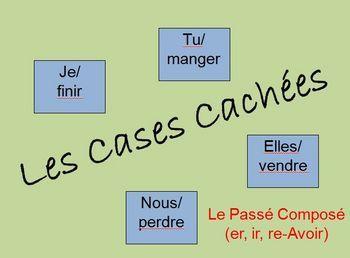 Interactive French Passé Composé Activity (Powerpoint)