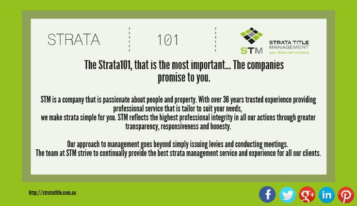 Always interesting to know some of the 'Strata 101' of your #Strata Title Management...