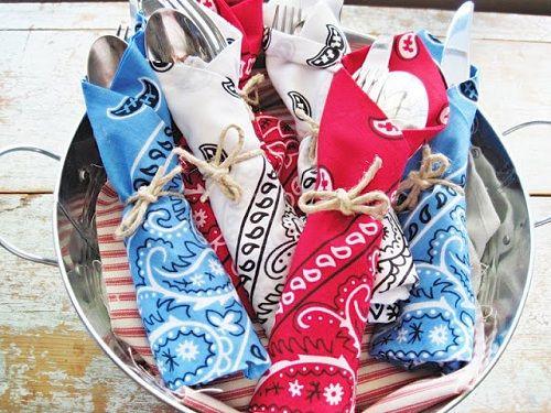 4th of july bandana wreath