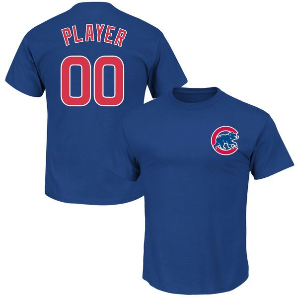 Chicago Cubs Majestic Youth Custom Roster Name & Number T-Shirt - Royal - $27.99