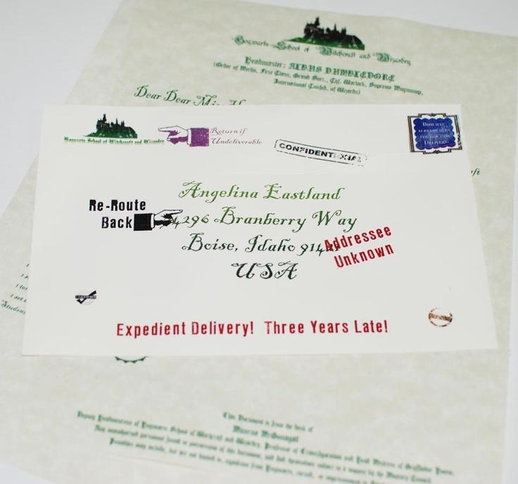 26 best geekery - printables images on Pinterest Harry potter - hogwarts acceptance letter