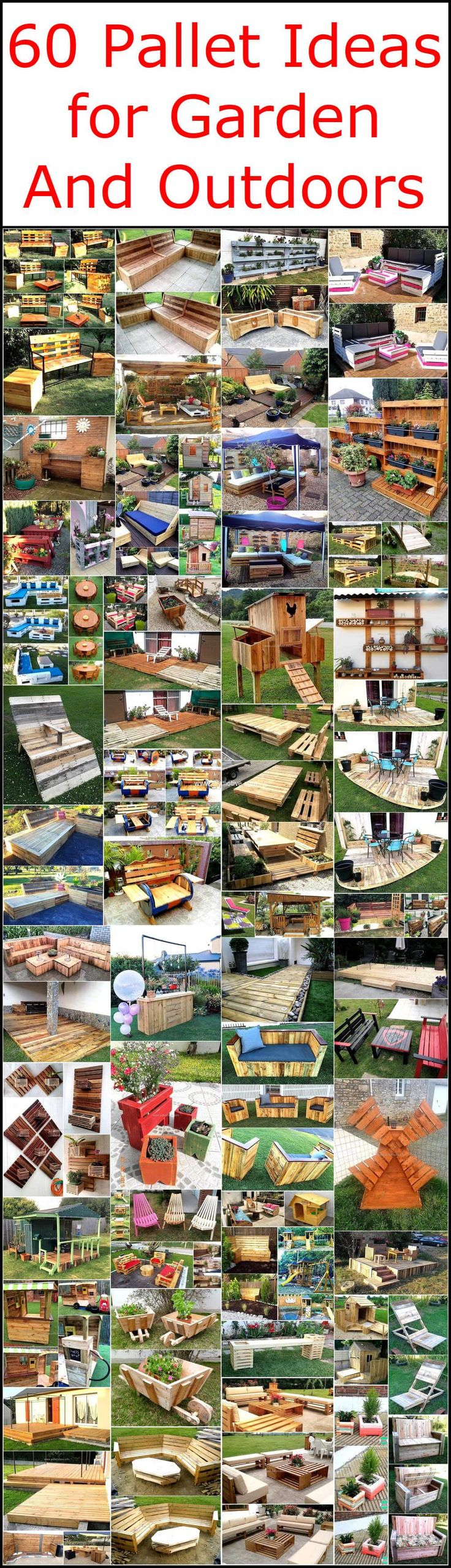 Now become a professional carpenter with these simple pallet outdoor and garden renovating ideas and change the dull appearance of your place into a royal, luxurious one. Now design your own garden planter, deck floor, benches, chairs, tables and save your money from buying expensive wooden furniture items available in furniture markets.