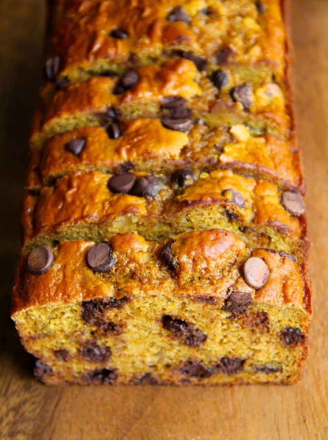 This lightened-up Greek Yogurt Pumpkin Banana Bread is made without butter or oil, but so soft and tender that you'd never be able to tell!