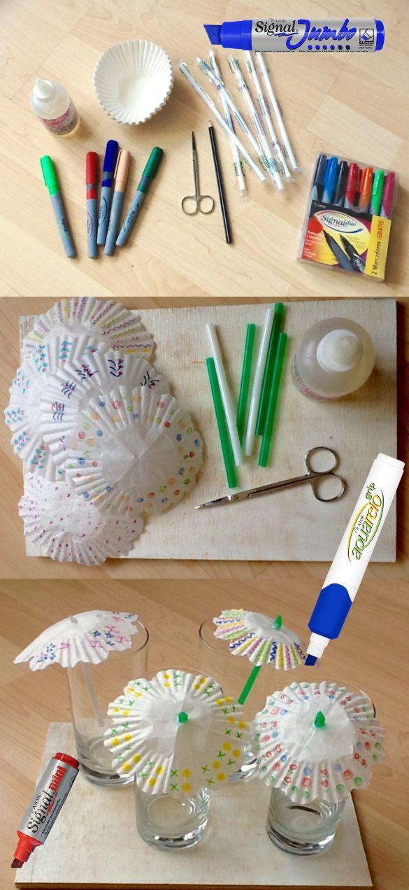 Unos coquetos paraguas para las bebidas en la playa. ¿Listos? http://www.azor.com.mx/ #DIY #Playa #Manualidades #fiestas