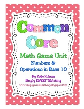 """Common Core First Grade. Math tubs for standards in """"Numbers and Operations in Base 10"""": Grade Math, Math Tubs, Math Games Tubs, Common Cores Math, Games Tubs Design, 16 Math, Teaching Review, Grade Numbers, 1St Grade"""