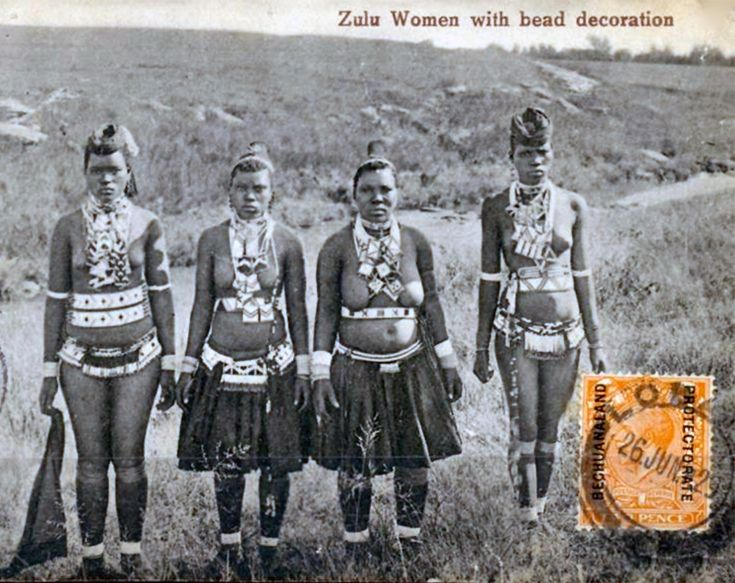 44 best photographs of zulu images on pinterest african africa zulu women with bead decoration south africa vintage postcard stopboris Choice Image