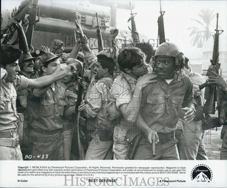 """Press Photo Eddie Murphy Actor In """"Best Defense"""" Film"""