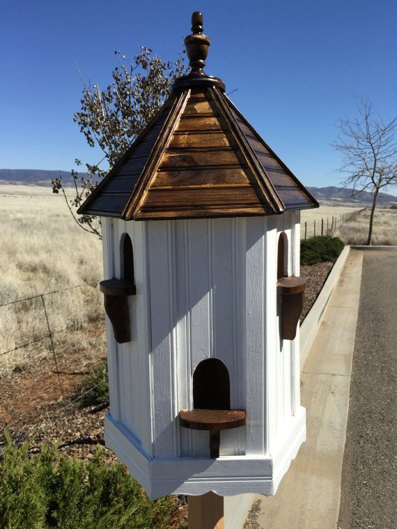 Dovecote fancy birdhouse large bird house custom for Bird house styles