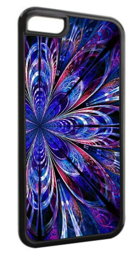 Fractal Flower-Blue Black Plastic Apple iPhone 7 Plus (7+) Case Made in the U.S.A. High Quality Black Plastic Case compatible with the Apple iPhone 7 PLUS, (7+) (Not Compatible with the standard iPhone 7). Permanent Quality Vibrant Flat-Printed Image. No Textured or 3D Print. Quick Processing and Shipping! Ships from the U.S.A. High Level of Customer Service. Satisfaction Guaranteed or Replacement or Refund. Jack's Outlet Inc. is the Brand Owner and Manufacturer of this item. At Jack's...