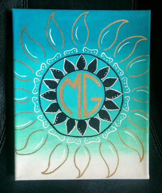 Canvas | Sorority | Monogram | Boho | Art