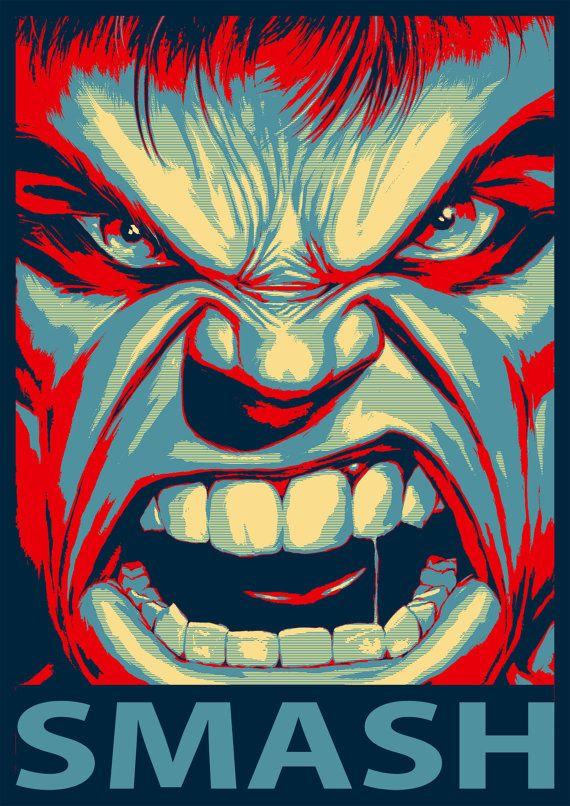 Hulk Art Print by BelowTheDiagonal on Etsy