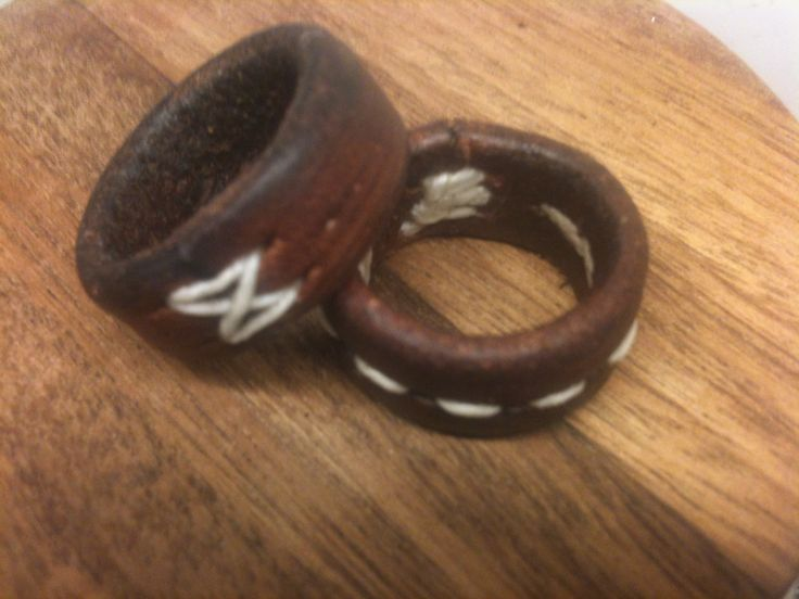 Handmade Leather Rings by Cove