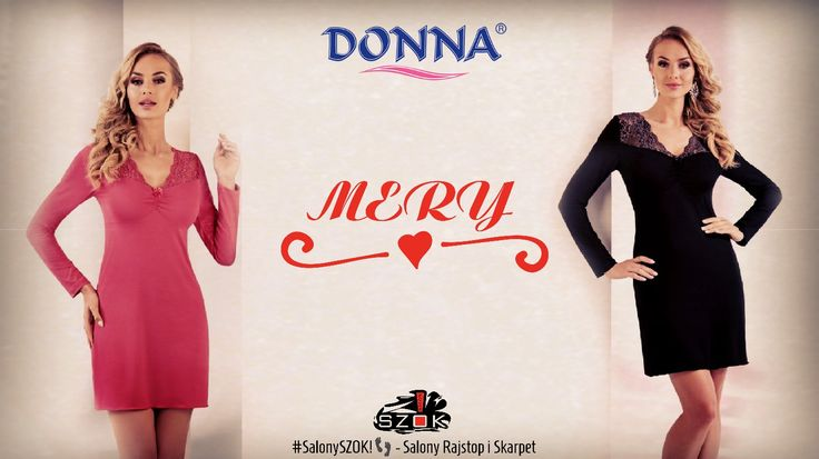 """🔴 #Klasyczna """"mała czarna"""" lub #apetyczna #czerwień... #Mery firmy #Donna to #koszulka #nocna która sprawi że każda #noc będzie #gorąca 😍. Serdecznie Zapraszamy ➡️ #SalonySZOK!👣 💯📛"""