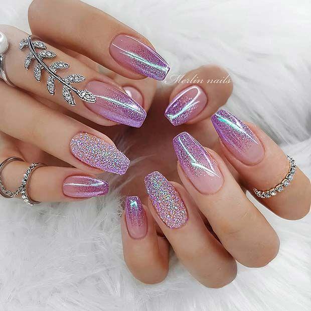 Glitter Ombre Nail Art Gallery Nails Nails Gel Nails Acrylic Nails