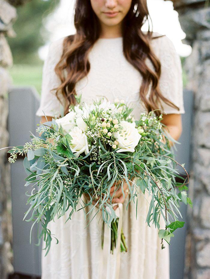 A Bouquet Of Greens Bride Weddingbouquet Bouquets