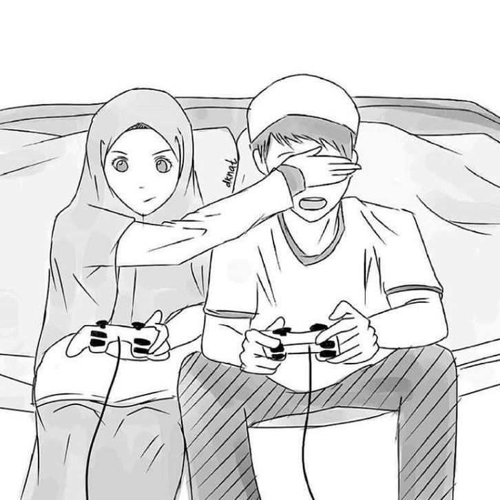 Aliosmangokcan Cartoon Character Draw Design Photoshop Drawing Islamic Hijab