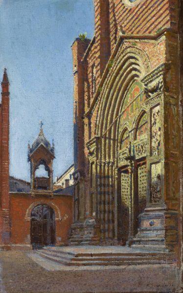 Portal kościoła S.Anastasia w Weronie - Aleksander Gierymski