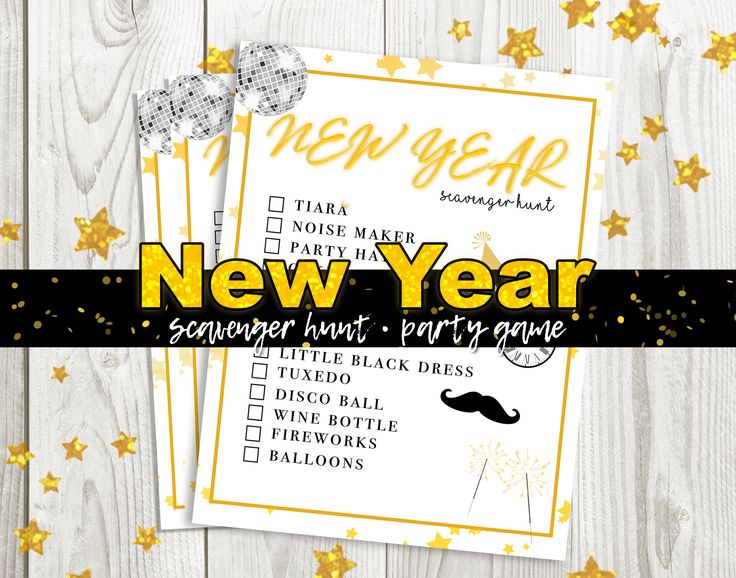 New Years' Eve 2020 Party Scavenger Hunt Game Party Game