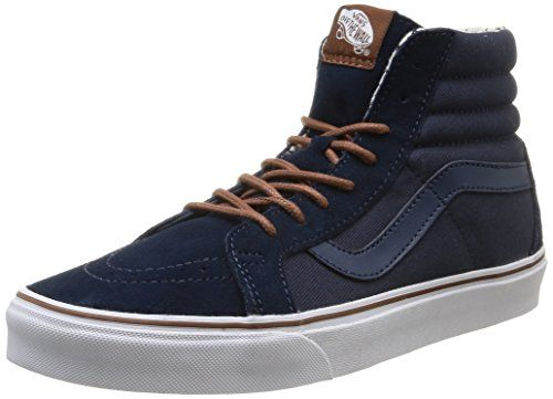 Vans Unisex Sk8-Hi Reissue (T S) Dress Blues/ Plus Skate Shoe 6.5 Men US / 8.0 Women US >>> Check this awesome product by going to the link at the image.