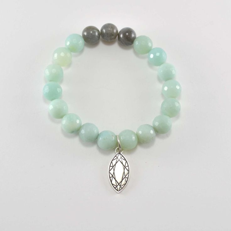 Eastern Facets Bracelet. Marquise Cut. sterling silver, amazonite, labradorite. CAD $110. www.carlimarie.com