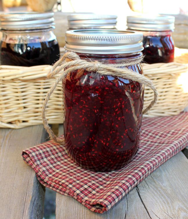 Homemade Jam from Frozen Raspberries, Blue berries and Marionberries