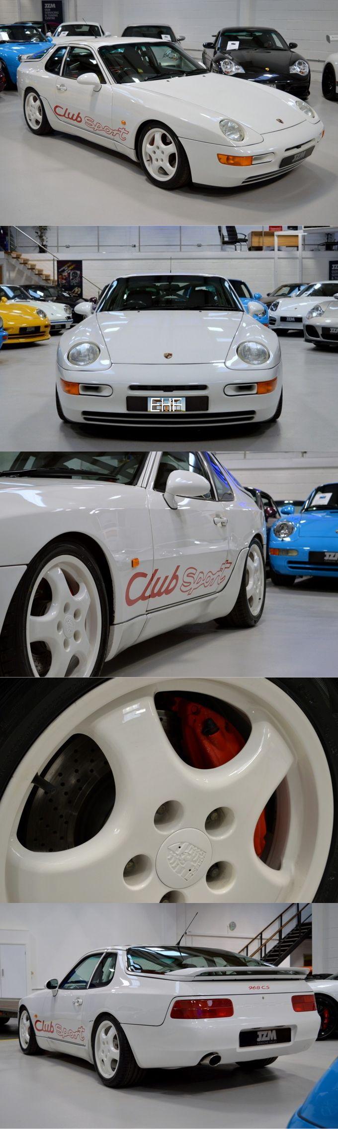 1993 Porsche 968 CS / Germany / white red / Club Sport