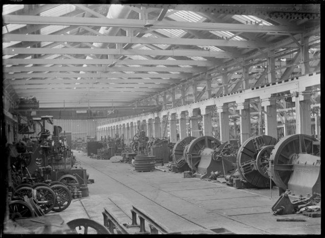 Railway workshops, possibly at Hutt Railway Workshops c1920
