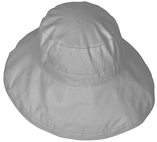 ae4e92ac9ed AshopZ Women s Solid Fashion Fold-Up Wide Brim Cotton Sun Bucket Hat ...