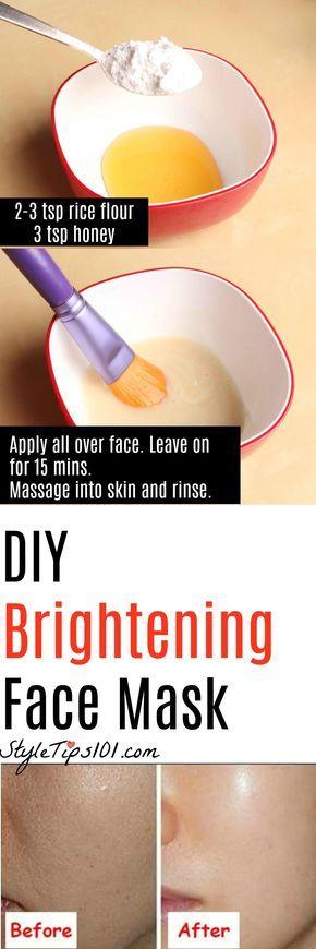 DIY Face Brightening Mask