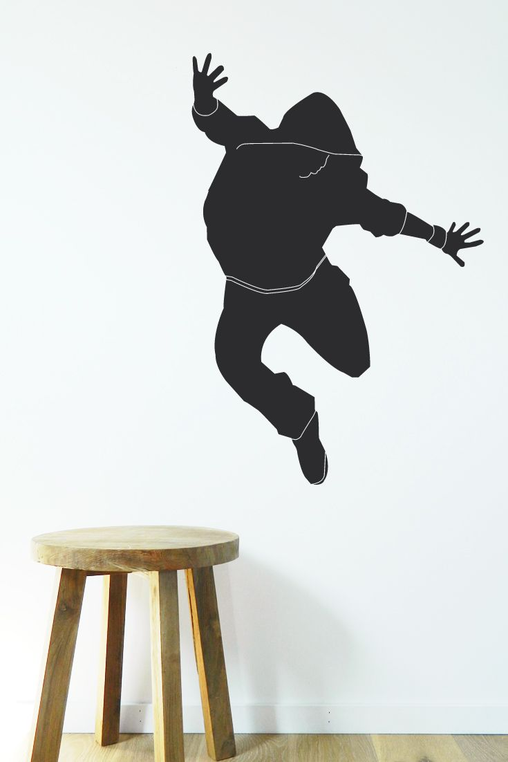 Removable vinyl wall sticker. Hip Hop Dancer decal. Easy to update bedroom walls. https://www.moonfacestudio.com.au/product-page/hip-hop-dancer-wall-sticker-decal