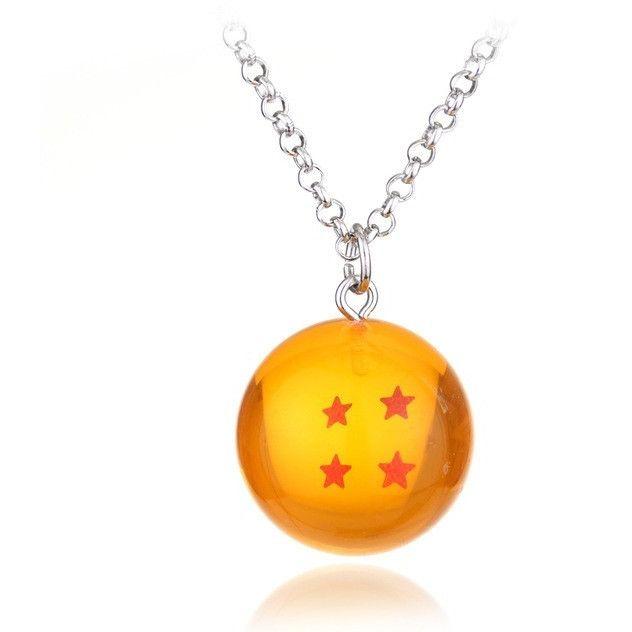 Dragon Ball Z necklace orange pendant