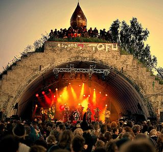 Stage at the Fusion festival in Germany 2011