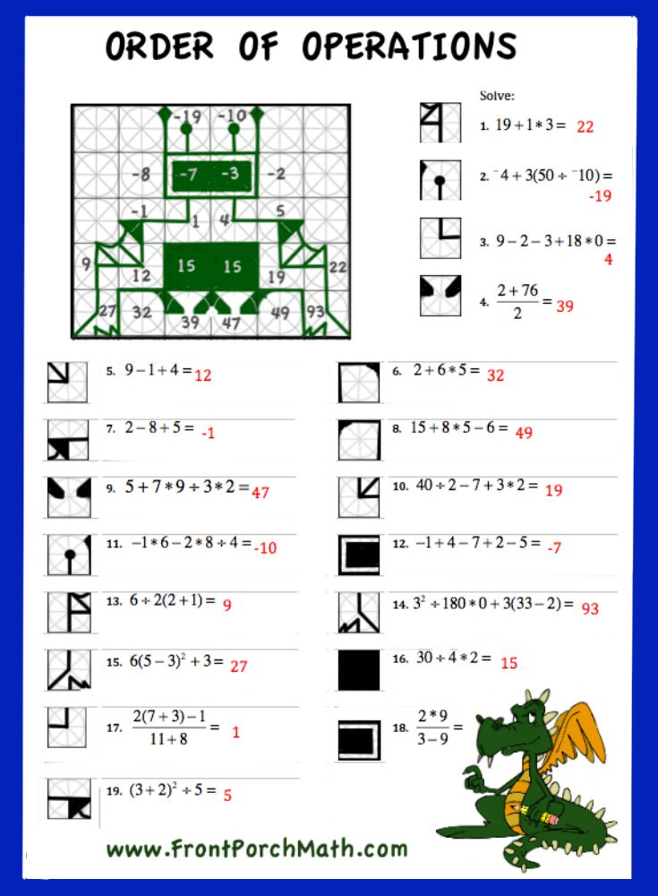 Best 25+ Order of operations ideas on Pinterest Math fractions - order of operations worksheet
