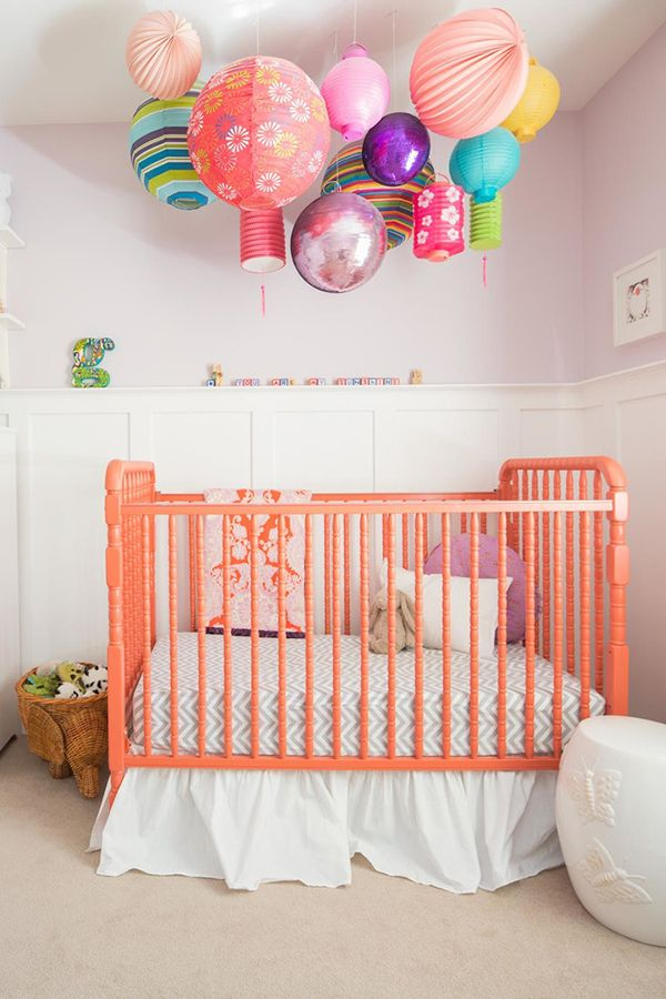 Colorful Overhead Lantern Lights Give This Baby Nursery A Fun, Playful Vibe!