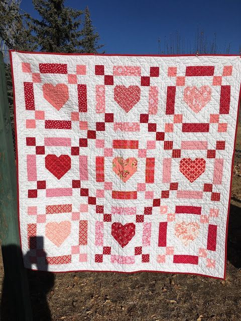 Tanya Quilts in CO: Maintaining Momentum, valentine heart quilt