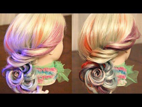 Причёска из одного жгута - YouTube
