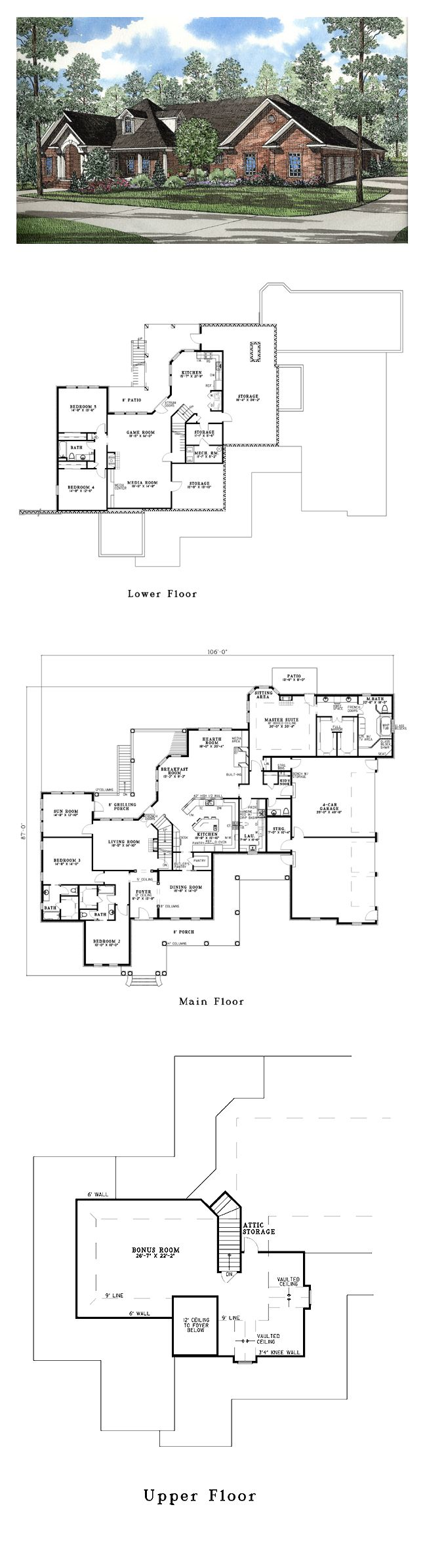 Cool House Plan Id Chp 32623