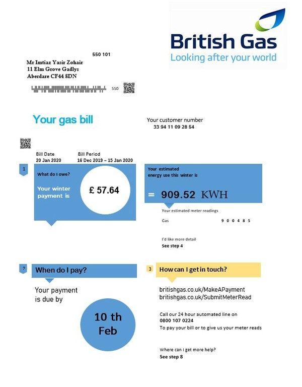Utility Bill Gotempl In 2020 Bill Template Gas Bill Utility Bill