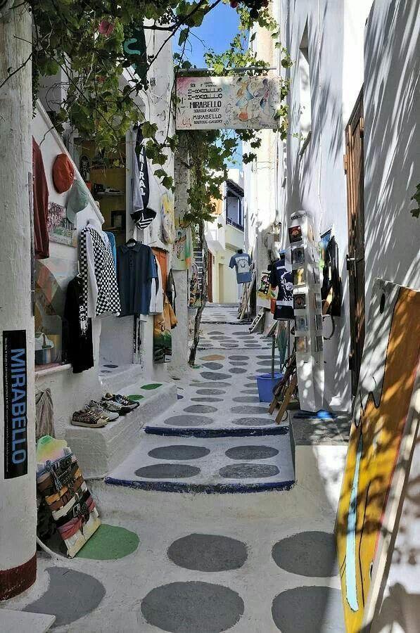Street of Ios island, Greece