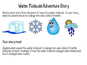 States of Matter- students write a story from a water molecule's perspective...they must describe changing from one state of matter to another...JJ