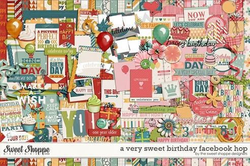 Tammy Tags Blog Train Post - February 2014, Sweet Shoppe Designs Facebook Hop, A Very Sweet Birthday. Huge birthday themed collaboration - just adorable! Lots of great digital scrapbooking freebies!