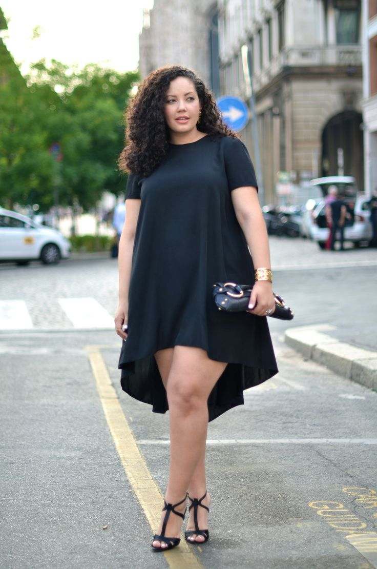 Girl With Curves: Ciao Da Milano! :: i need to get the courage to wear a shapeless dress like this-- i love them! ♥
