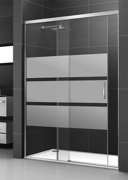 Mampara de ducha corredera de 1 puerta y 1 fijo - Ideal Mamparas