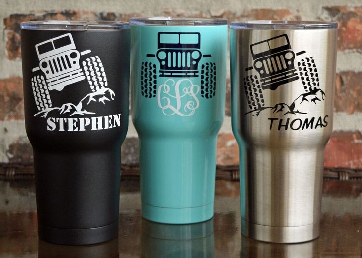 SIC CUP! Dangeroulsy cold!  Teal, Black, silver! JEEP LOVERS EVERYWHERE! Order a custom  cup