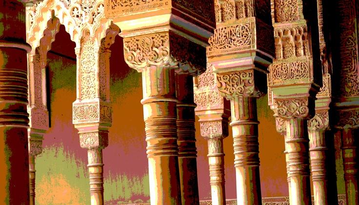 """chapiteles in the """"patio"""" of La Alhambra (Granada, Spain)"""