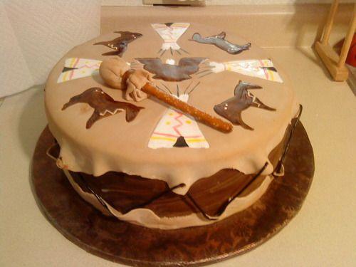 The Ladybug Cake Lady - Native American Drum Cake