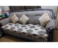 Seven seats sofa set with table set for sale in good amount