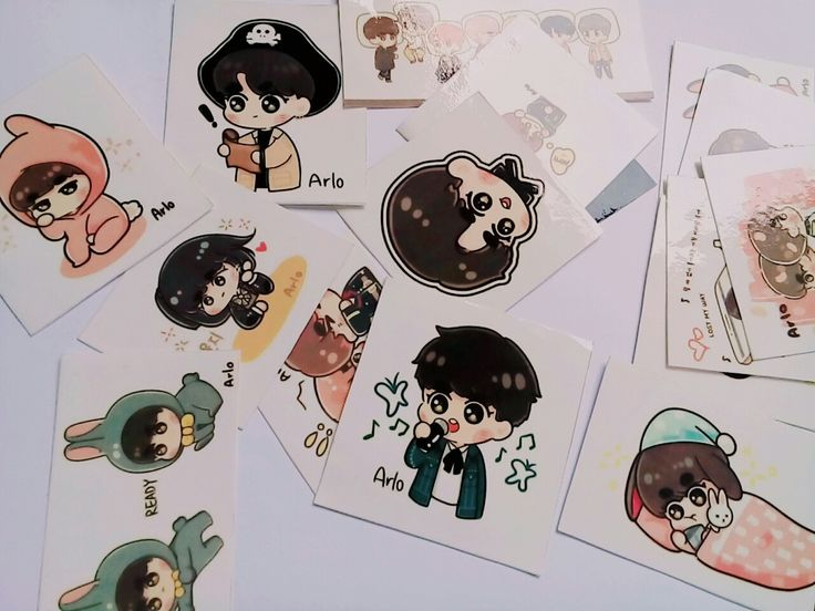 My BTS FANART stickers .... Cute as fuck .... Haha 😘😘😘😘
