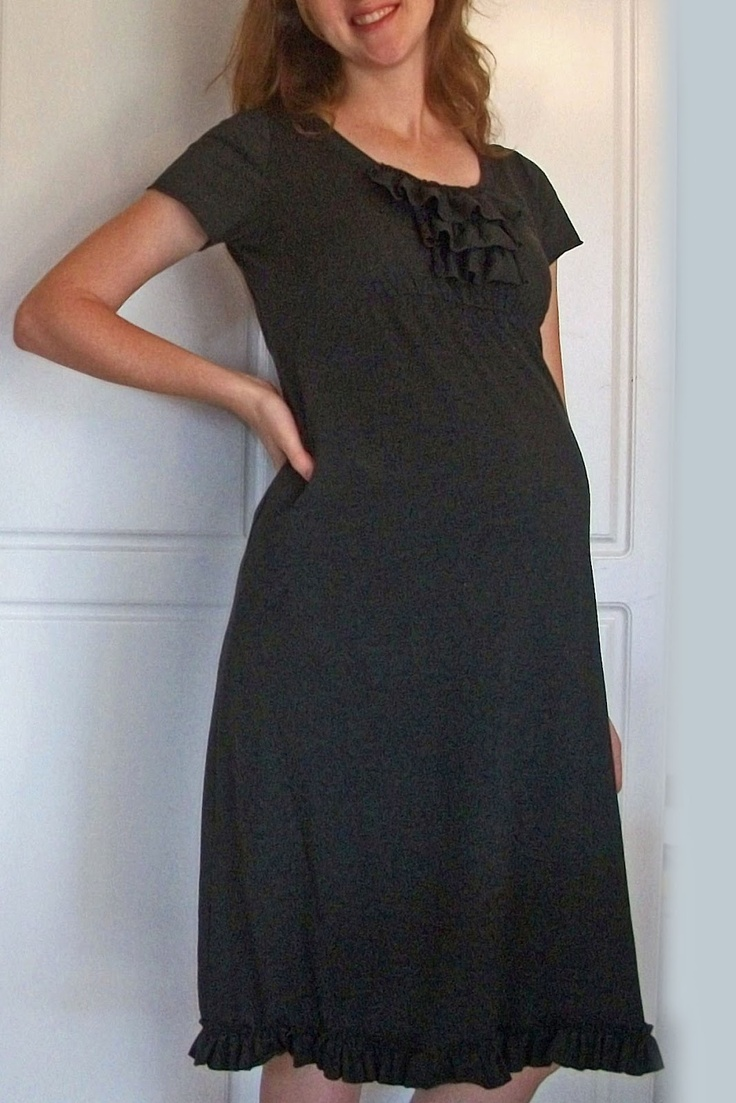22 best maternity nursing wear sew fashions images on pinterest idea bottle easy diy ruffle top dress tutorial my maternity dress makeover ombrellifo Images