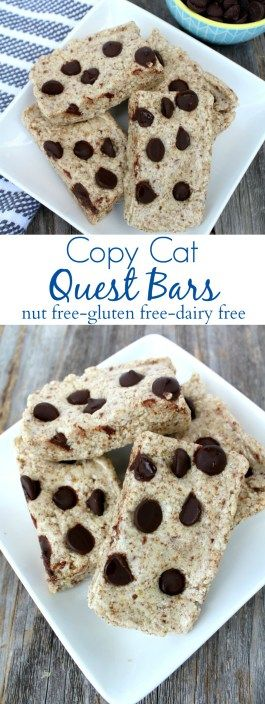 Skip the store and save money making your own protein bars with this Copy-Cat Quest Bar Recipe! Great for snacks or breakfast.